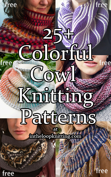 Colorful Cowl Knitting Patterns In The Loop Knitting