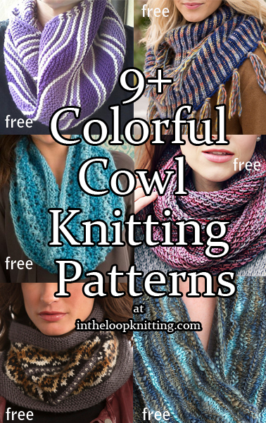 Colorful Cowl Knitting Patterns