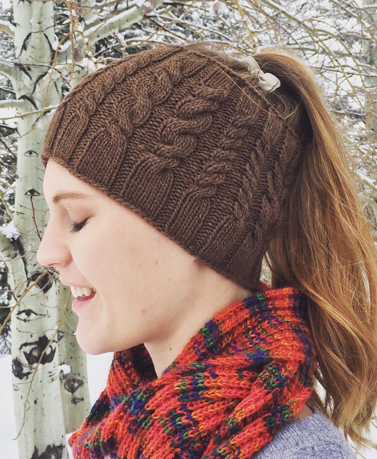 Free Knitting Pattern for Yellowstone Skate Ski Hat