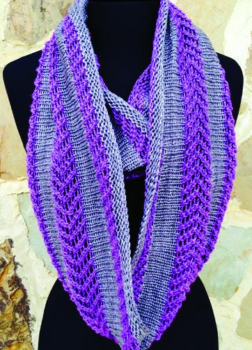 Knitting Pattern for Maverick Cowl Infinity Scarf