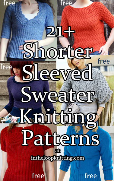 Shorter Sleeved Pullover Knitting Patterns