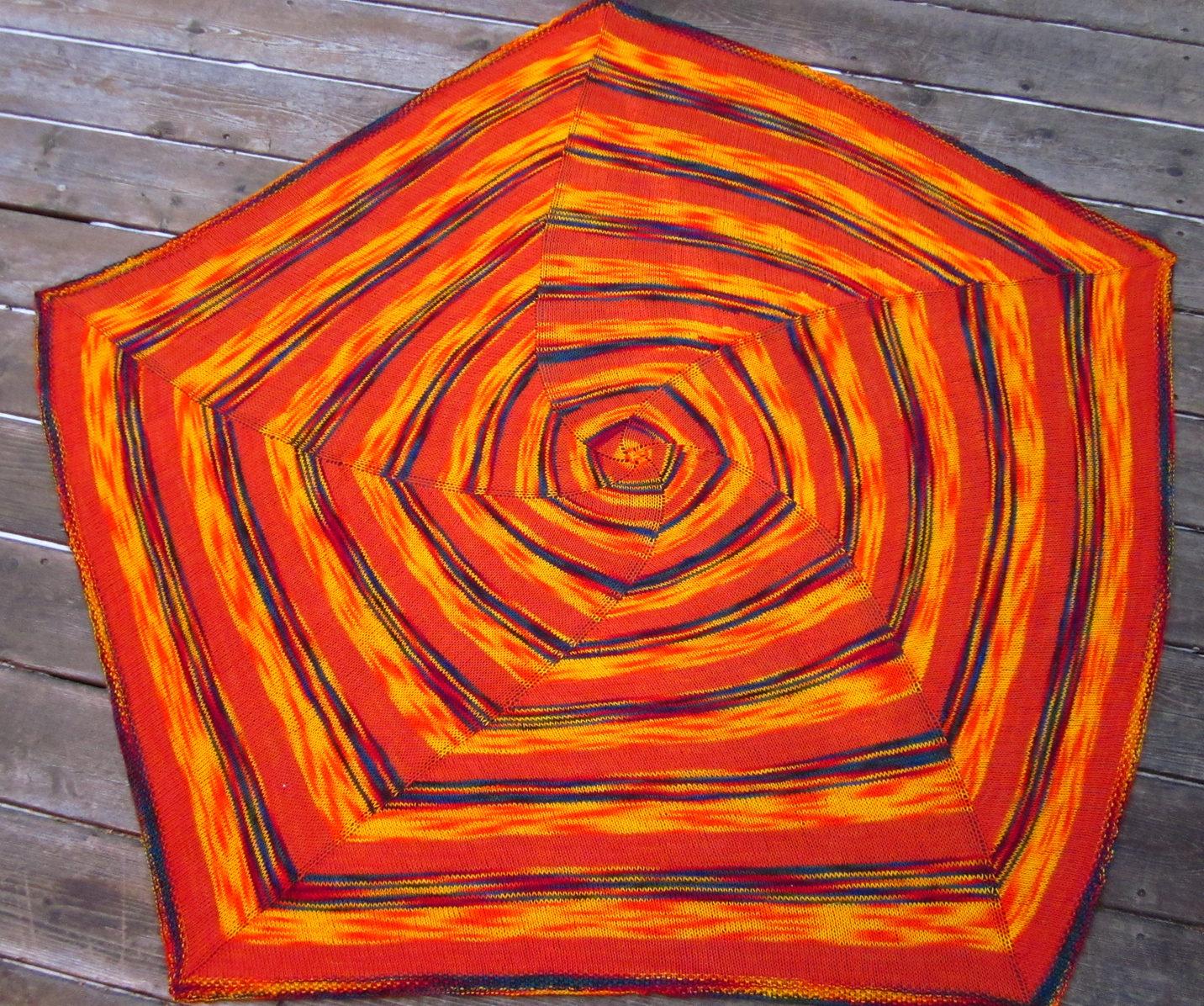 Free Knitting Pattern for Spiral Light Baby Blanket