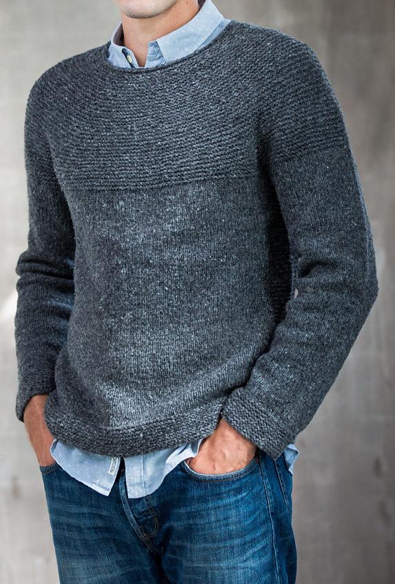 Knitting Pattern for Cobblestone Pullover