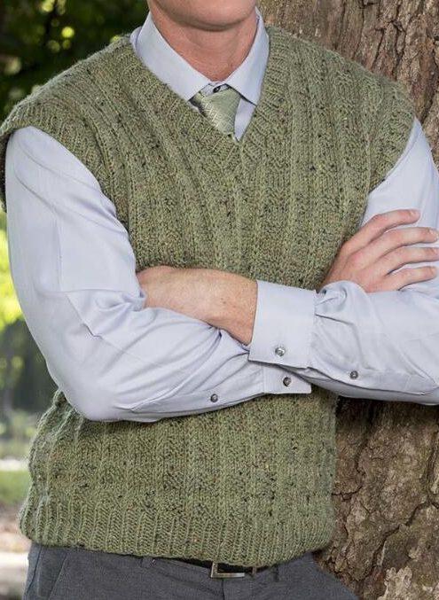 Free Knitting Pattern for Crawley Vest