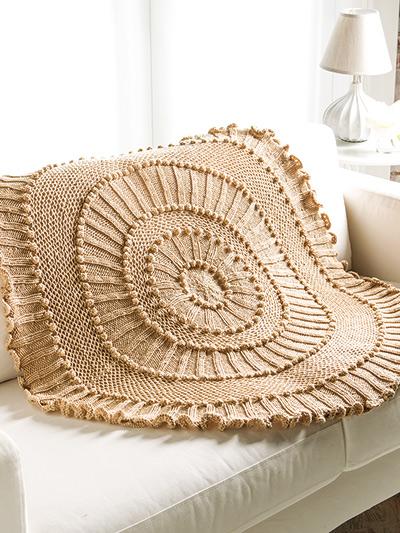Knitting Pattern for Matelasse Circular Afghan