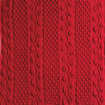 Knitting Pattern for Autumn Blaze Afghan
