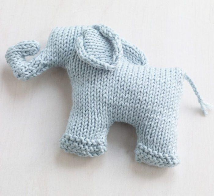 Free Knitting Pattern for Sweet Mini Elephant
