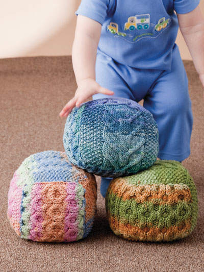 Knitting Pattern for Cable Sampler Baby Blocks