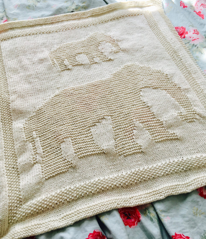 Knitting Pattern for Elephant Baby Blanket