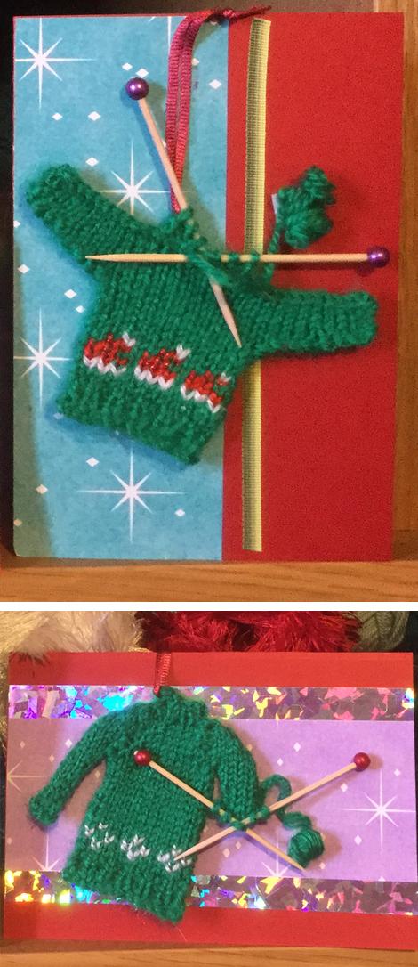 Sweater WiP Christmas Card