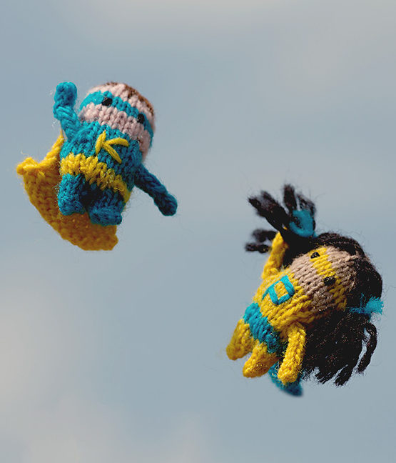 Free Knitting Pattern for Purl Girl and Knit Kid