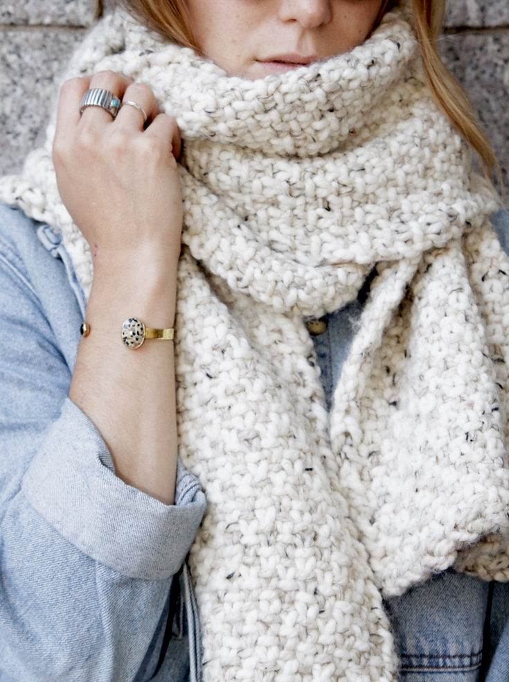 Knitting Pattern for Lighthouse Bay Super Scarf