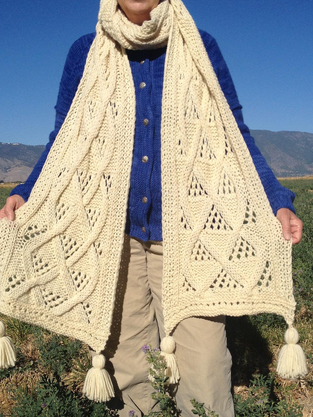Knitting Pattern for Mega Scarf
