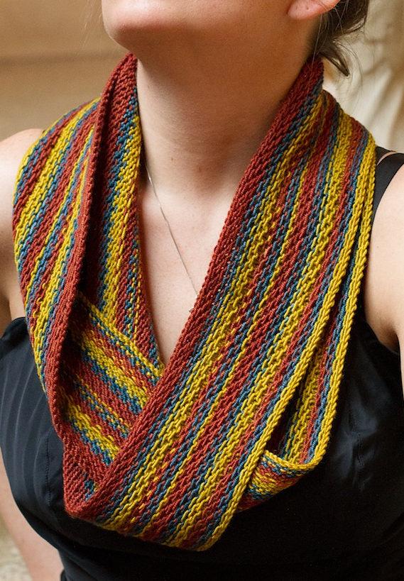 Knitting Pattern for Metadata Scarf
