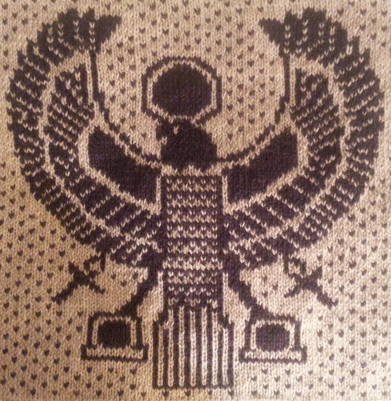 Free Knitting Pattern for Egyptian Horus Block