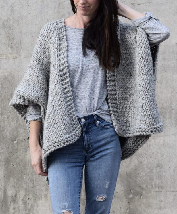 Free Knitting Pattern for Easy Telluride Kimono