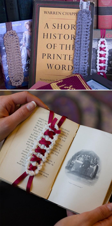 Free Knitting Pattern for Bibliort Bookmark Band