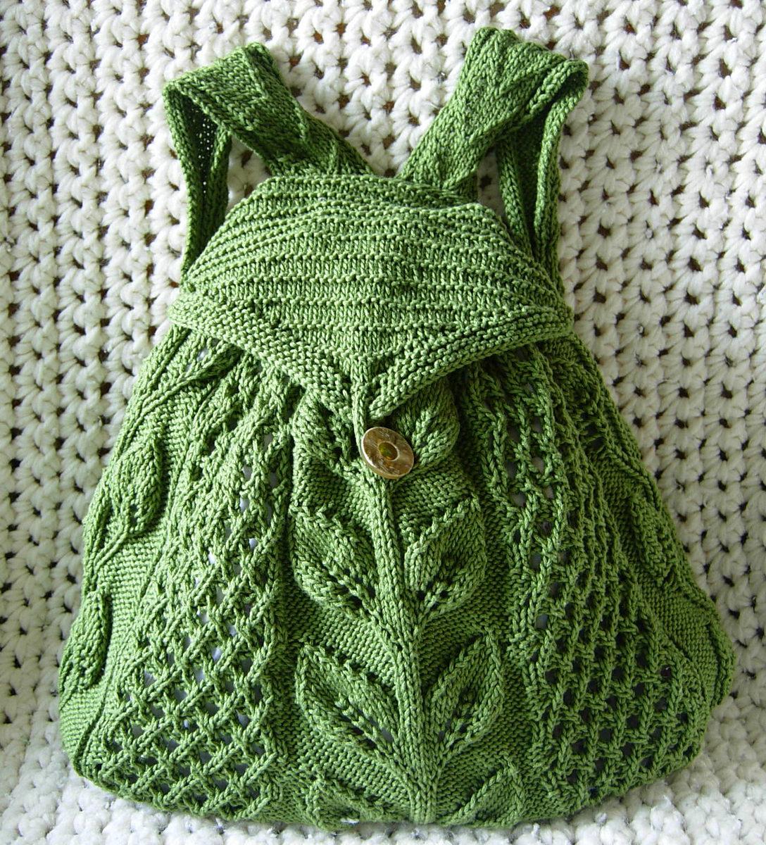 Knitting Pattern for Commuter Knapsack Artemis25rsl
