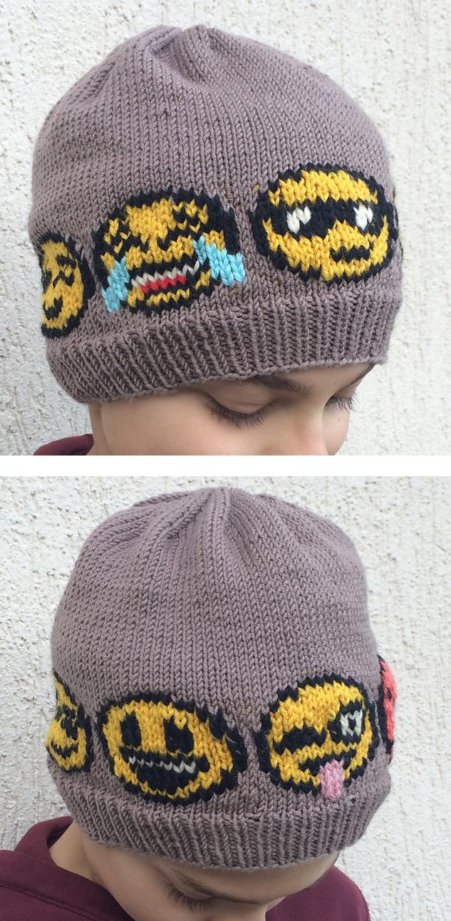 Knitting Pattern for Emoji Hat