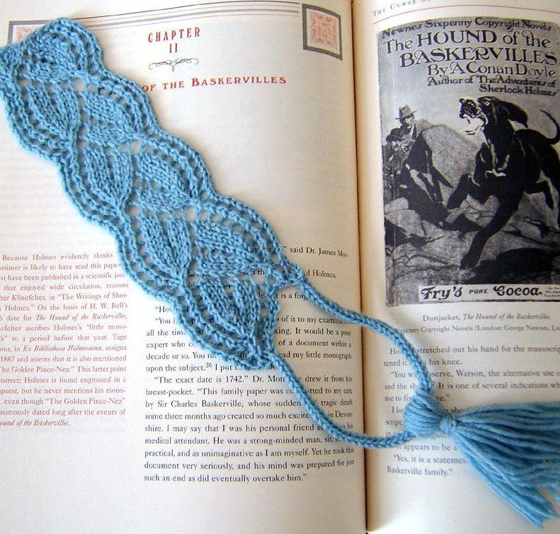 Free Knitting Pattern for Flourish Bookmark