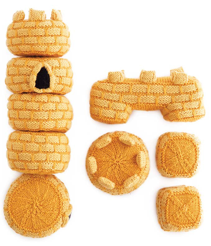 Knitting Pattern for Castle Set