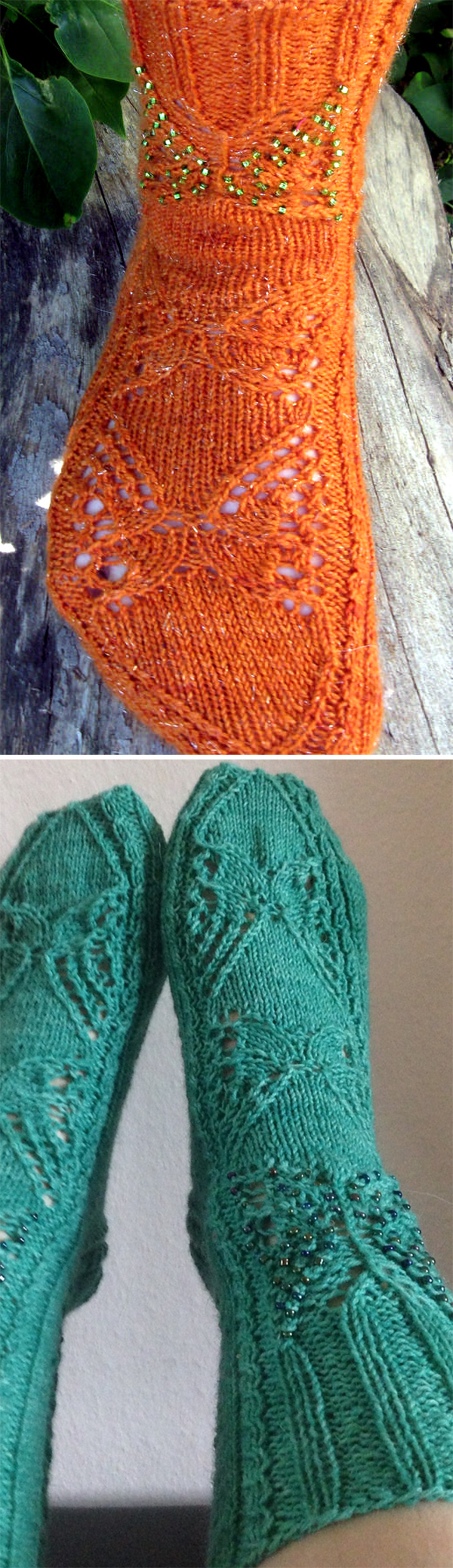 Knitting Socks Design 2017 : Butterfly knitting patterns in the loop