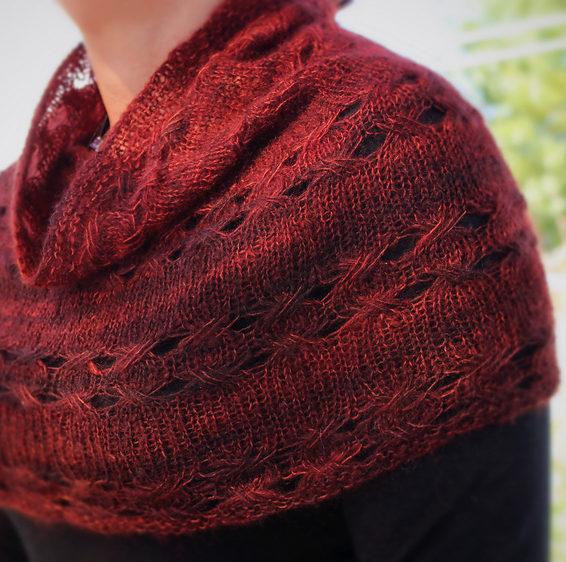 Free Knitting Pattern for Elis Cowl