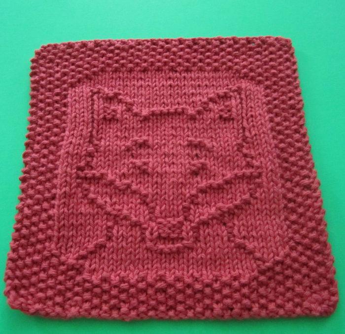Free Knitting Pattern for Fox Cloth