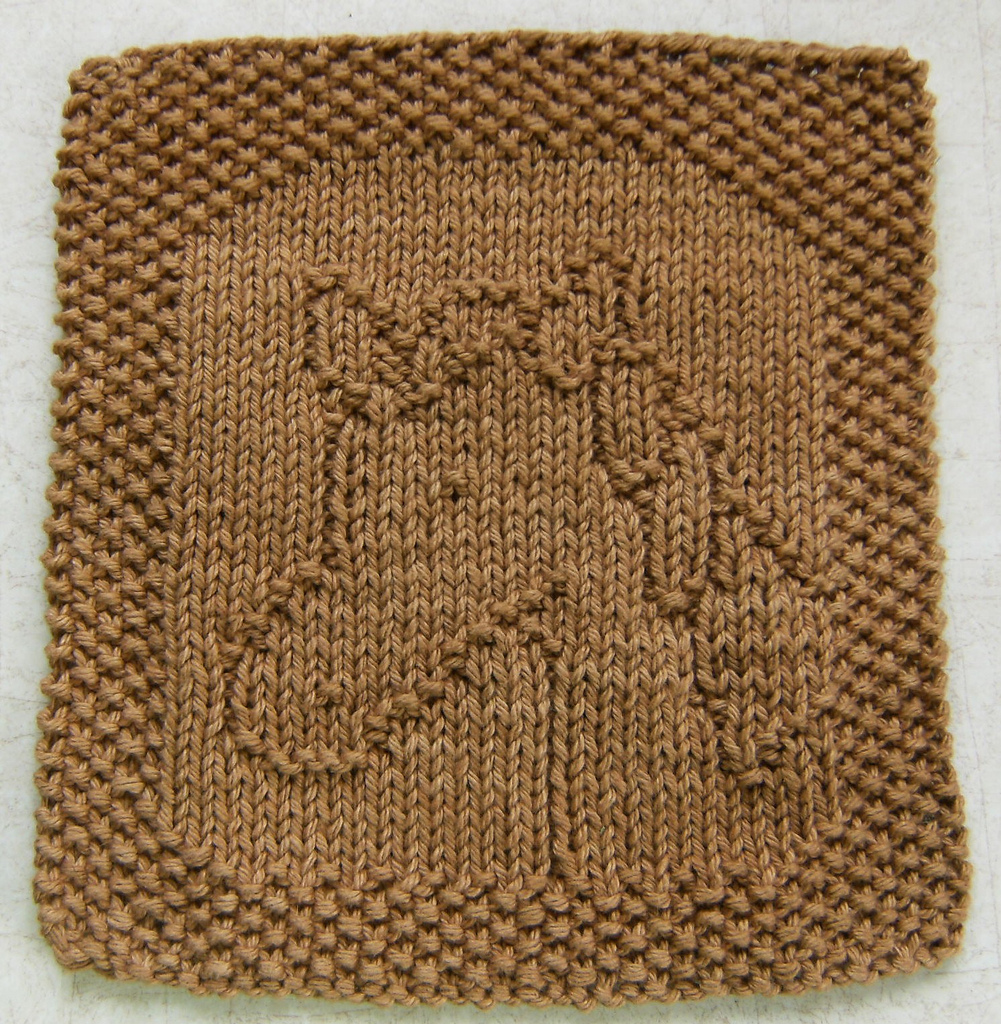 Free Knitting Pattern for Pete the Horse Cloth or Bib
