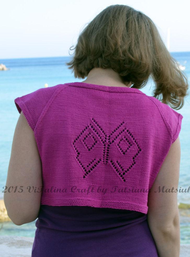 Knitting Pattern for Papillon Bolero
