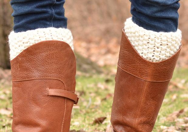 Free Knitting Pattern for Double Kick Boot Cuffs