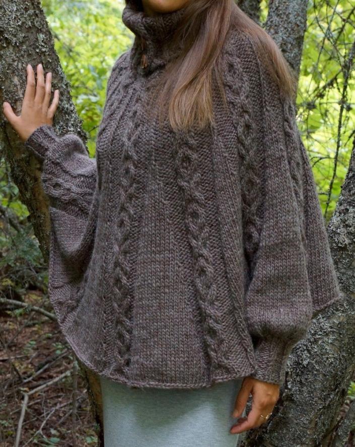 Knitting Pattern for Olga Poncho