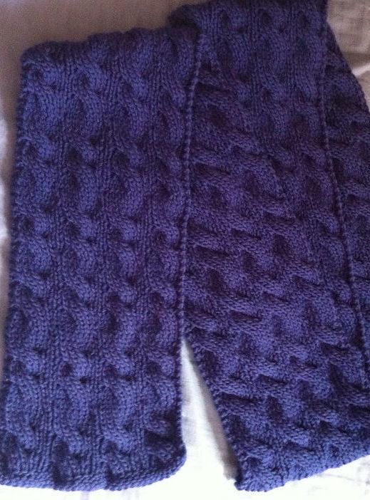 Free Knitting Pattern for Reversible Rivulet Scarf