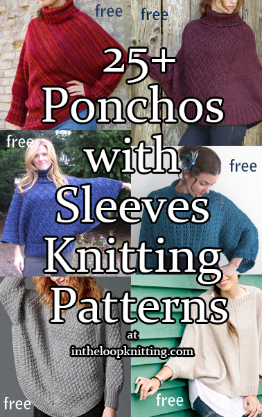 Sleeved Poncho Knitting Patterns