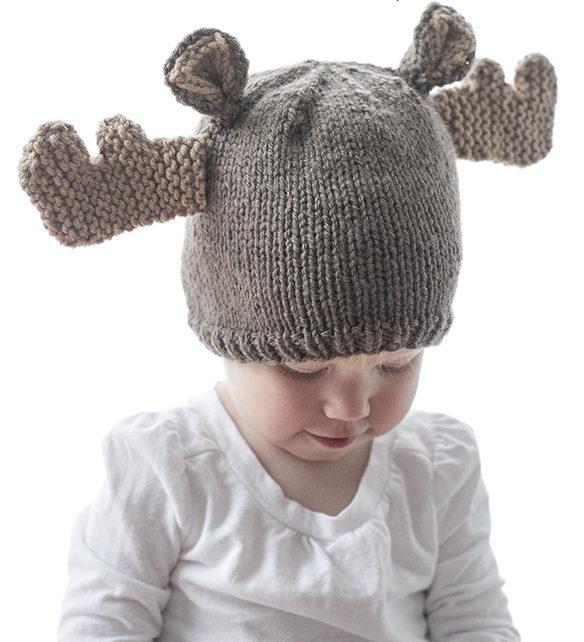 Free Knitting Pattern for Mini Moose Hat
