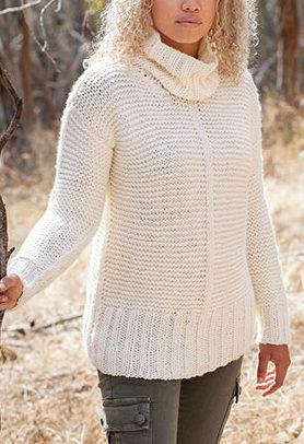 Chunky Garter Sweater