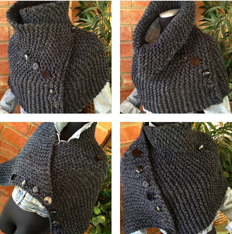 Knitting Pattern for Ribbed Hugger Cowl