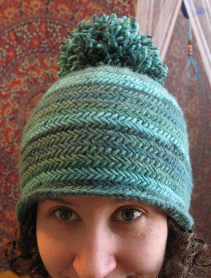 Free Knitting Pattern for Herringbone Hat