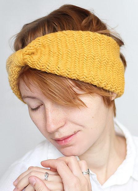 Knitting Pattern for Herringbone Headband