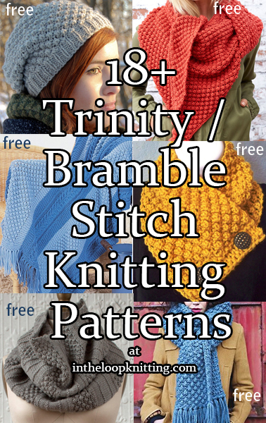 Trinity, Berry, Bramble Stitch Knitting Patterns