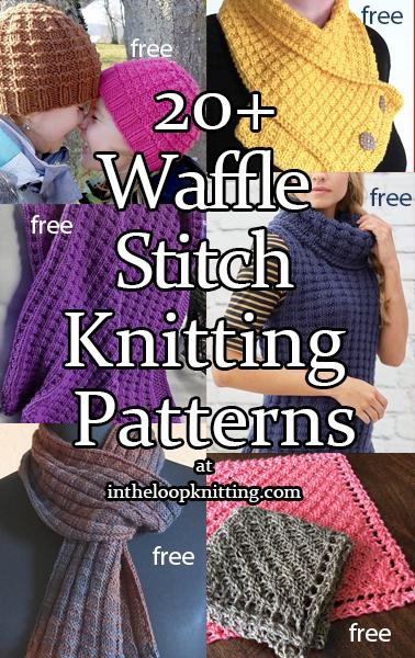 Waffle Stitch Knitting Patterns