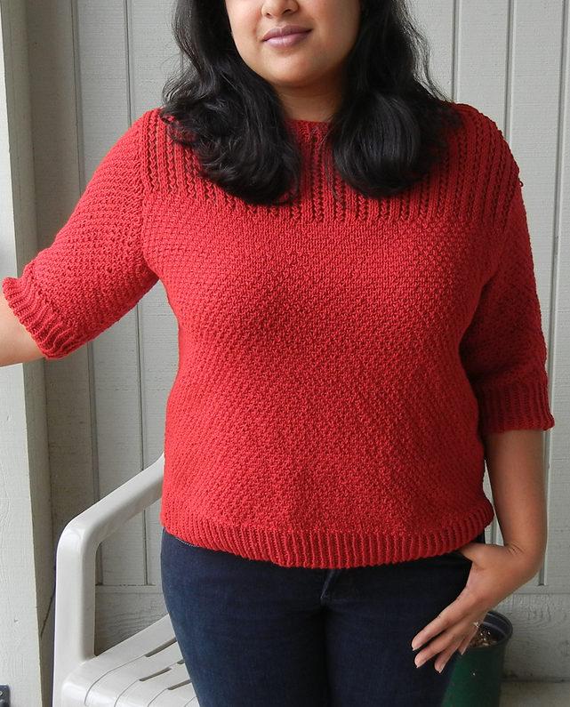 Knitting Pattern for Elemental Boatneck Top