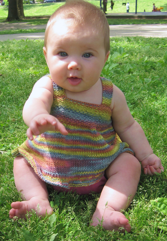 Free Knitting Pattern for Hara Baby Dress