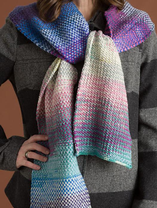 Free Knitting Pattern for Liberty Wool Linen Stitch Scarf
