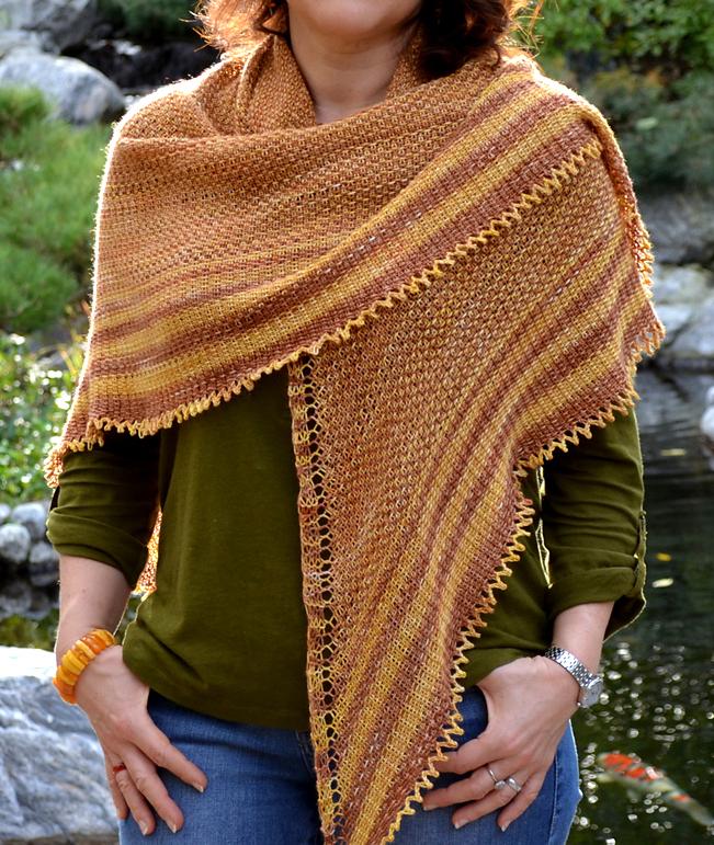 Knitting Pattern for Linen Stitch Shawl