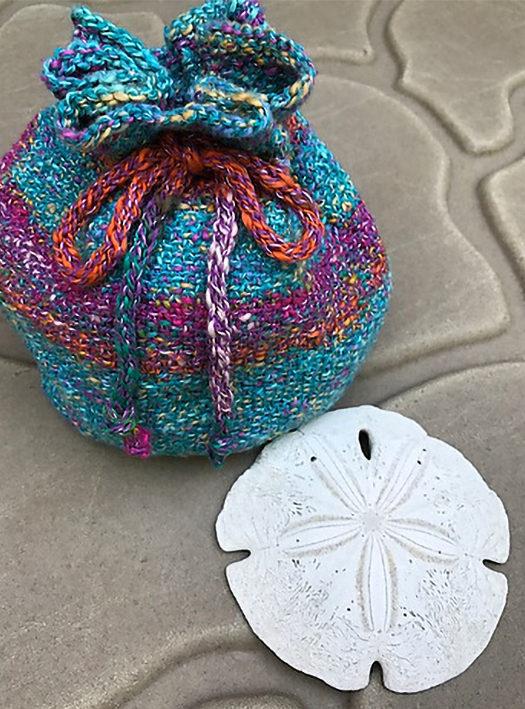 Free Knitting Pattern for Linen Stitch Seashell Bag