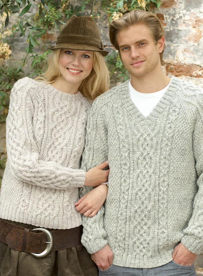 Free Knitting Pattern for Raglan Aran Pullover
