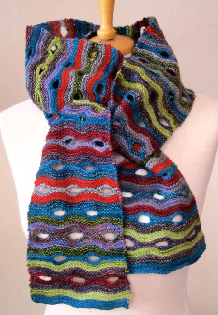 Knitting Pattern for Blinking Eye Scarf