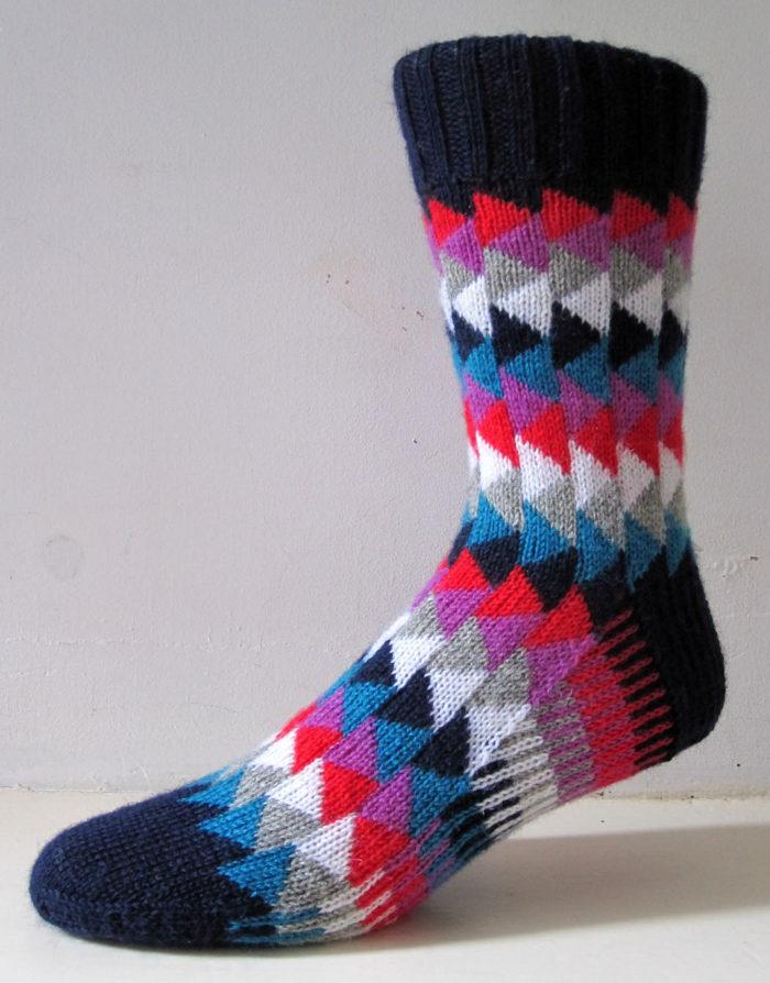Free Knitting Pattern for Gander Socks