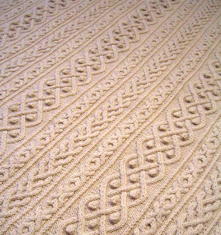 Knitting Pattern for Hugs, Kisses & Cables Blanket